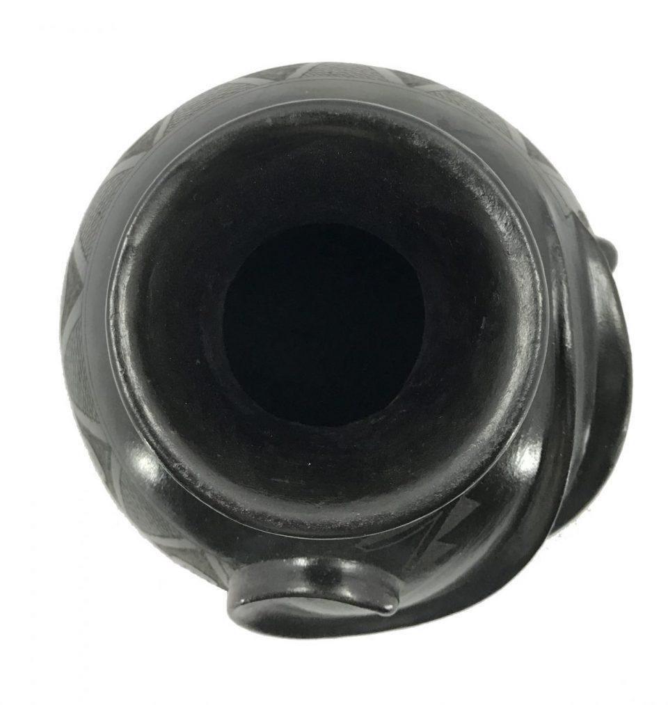 Black Pottery Small Vase (7)