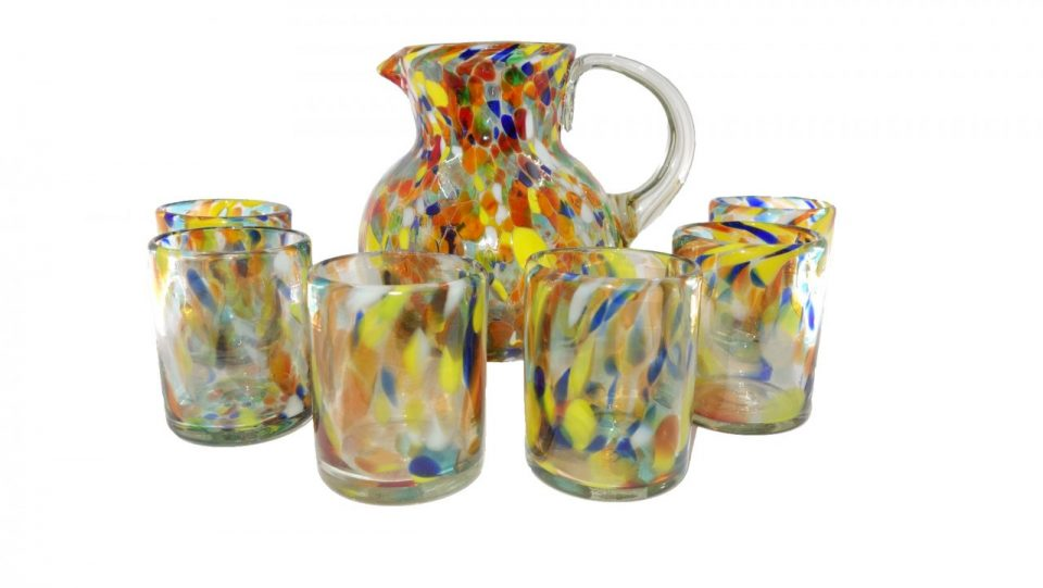 Confetti Blow Glass Set (3)