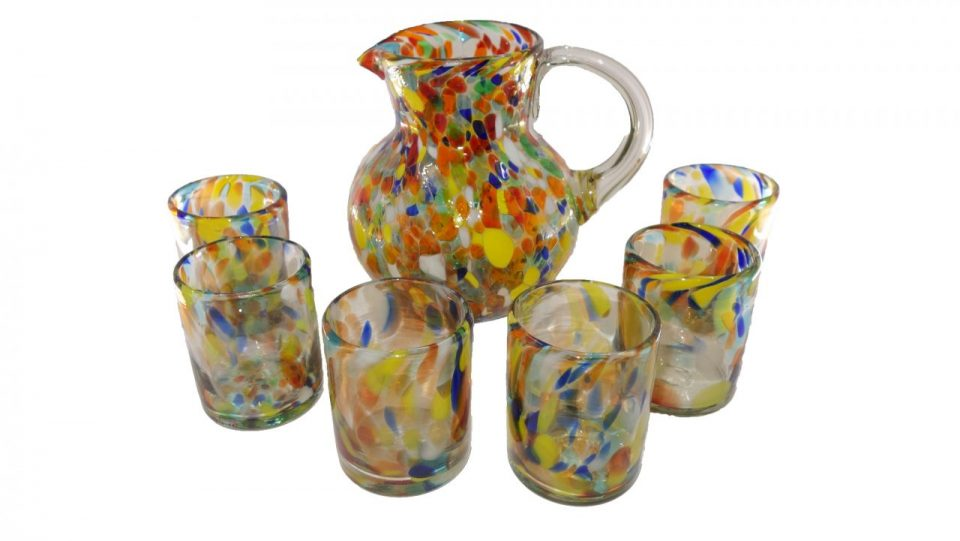 Confetti Blow Glass Set (4)