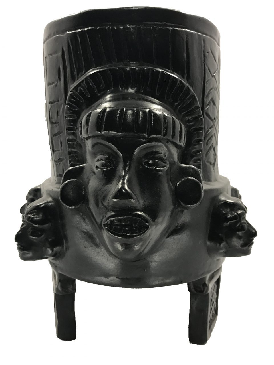 Black Pottery Urn (1)