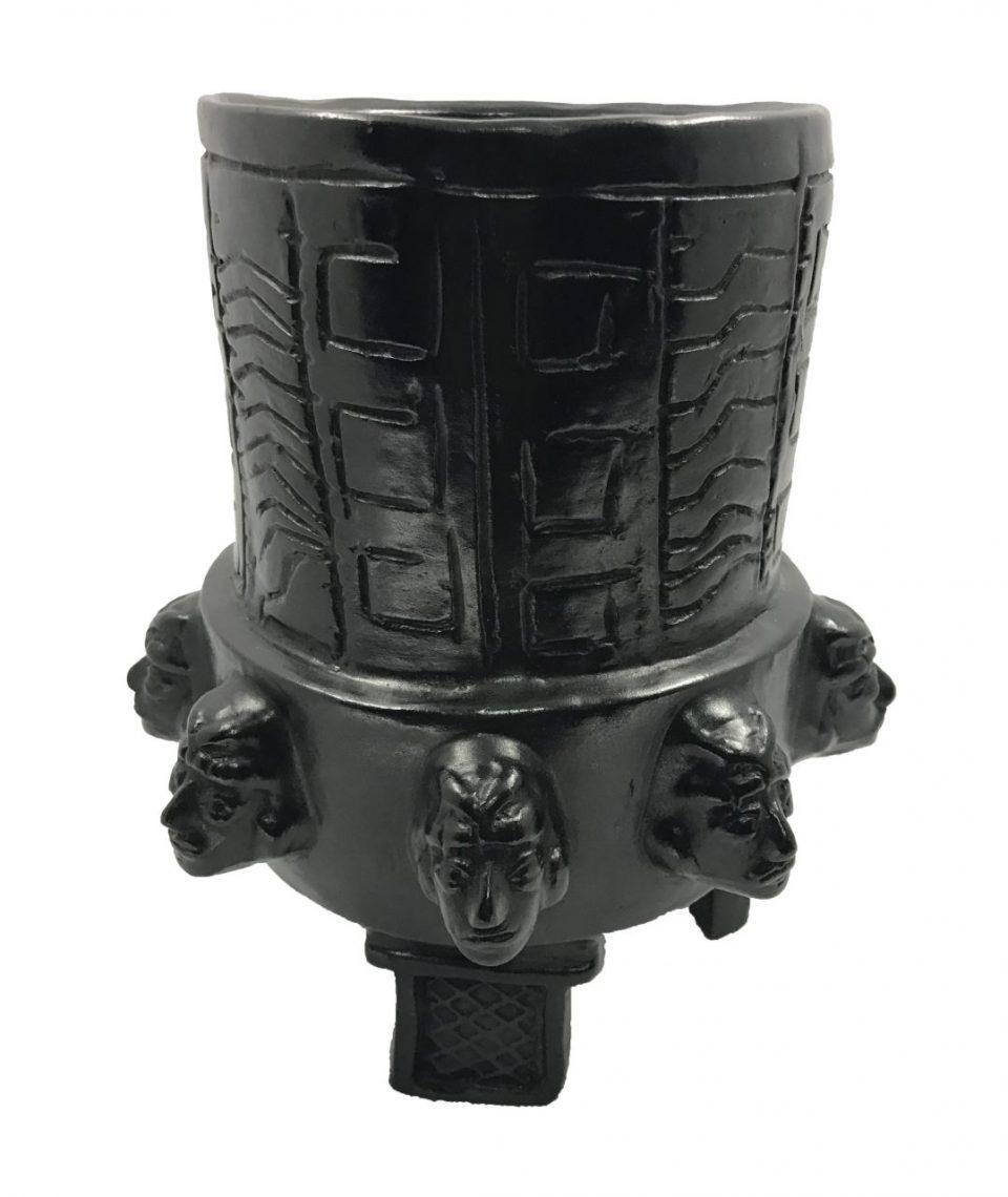 Black Pottery Urn (10)