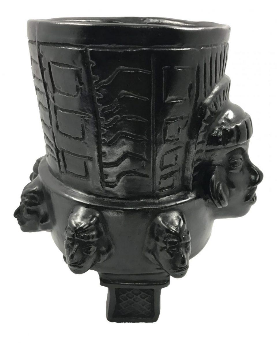Black Pottery Urn (11)