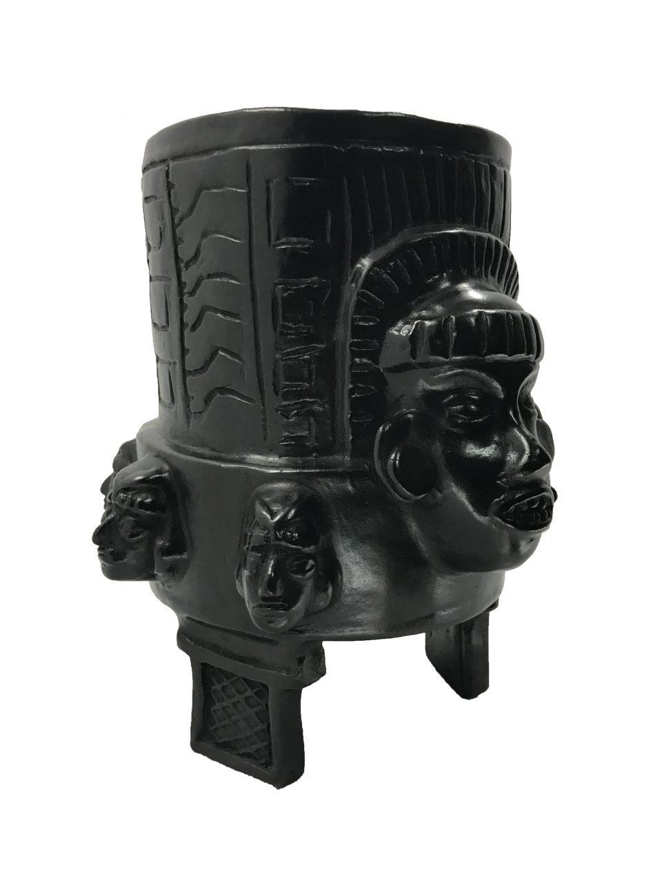 Black Pottery Urn (2)