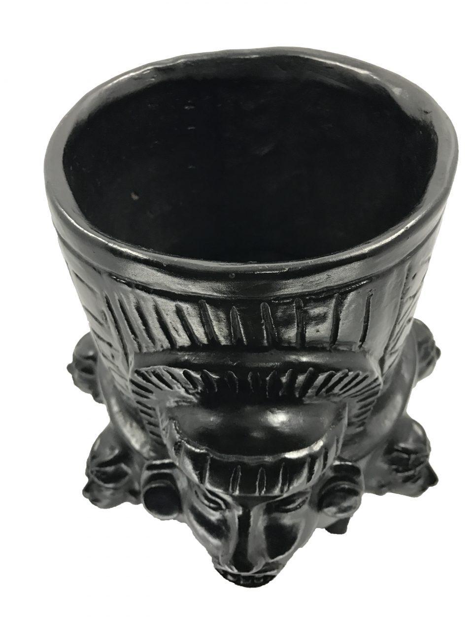 Black Pottery Urn (4)
