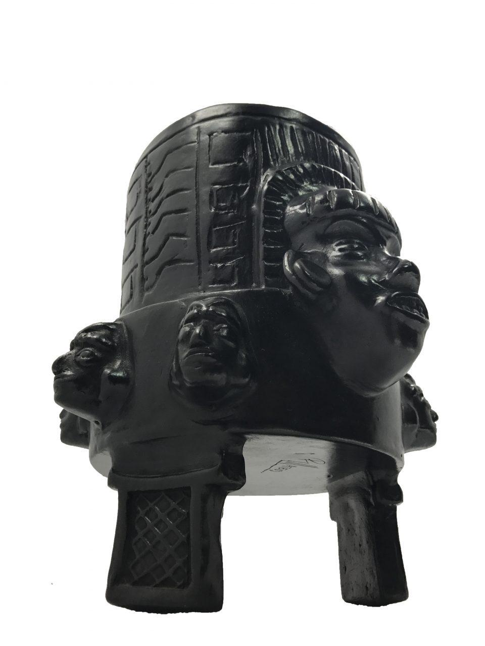 Black Pottery Urn (6)