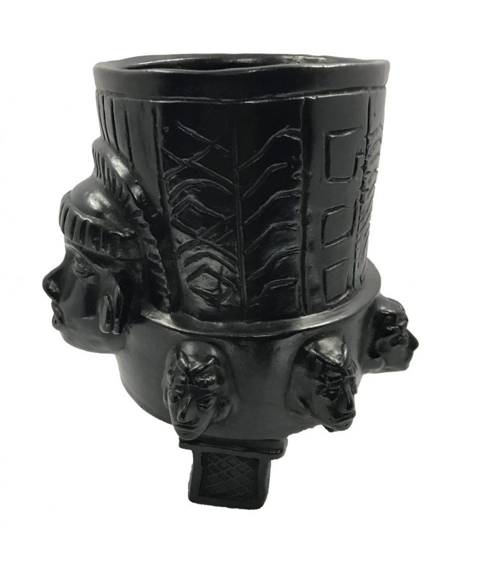 Black Pottery Urn (9)