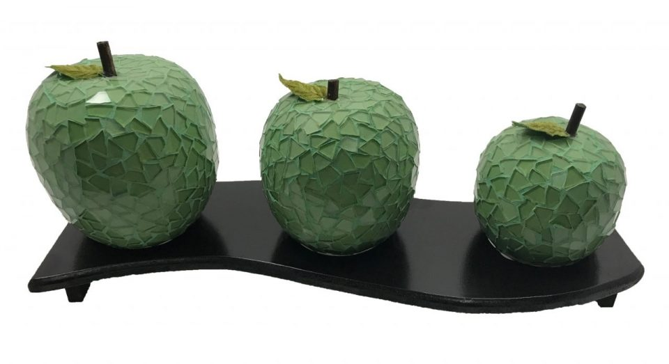 Mosaic Glass Green Apple (2)