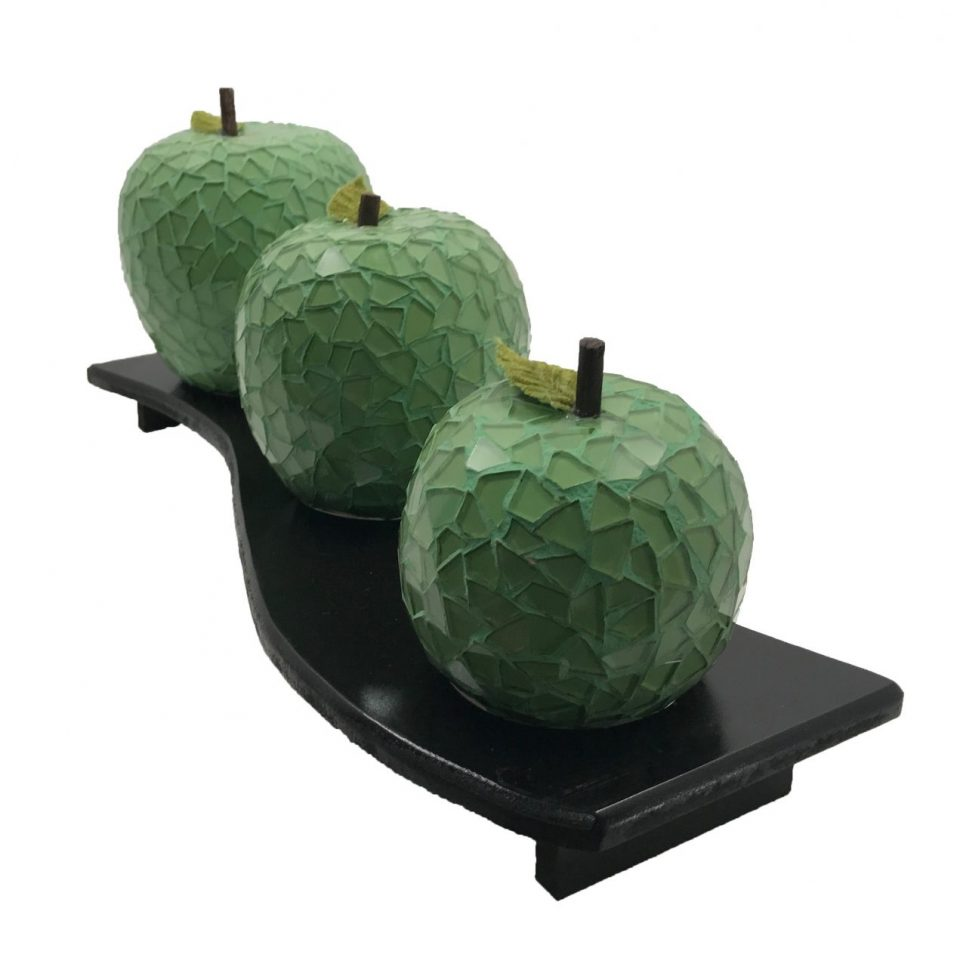 Mosaic Glass Green Apple (3)