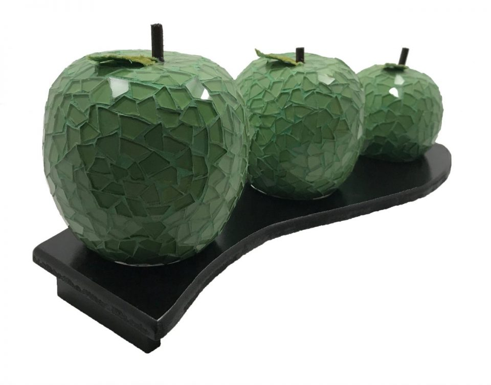 Mosaic Glass Green Apple (4)