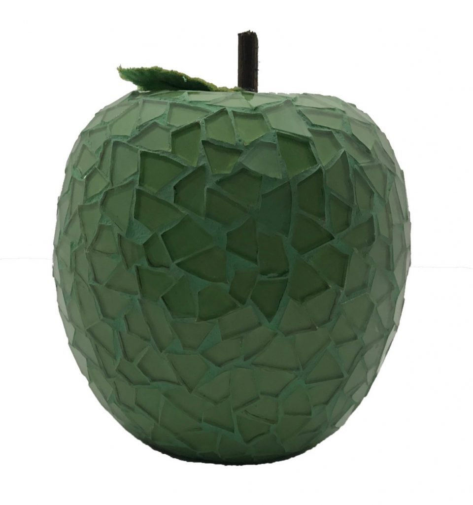 Mosaic Glass Green Apple (6)