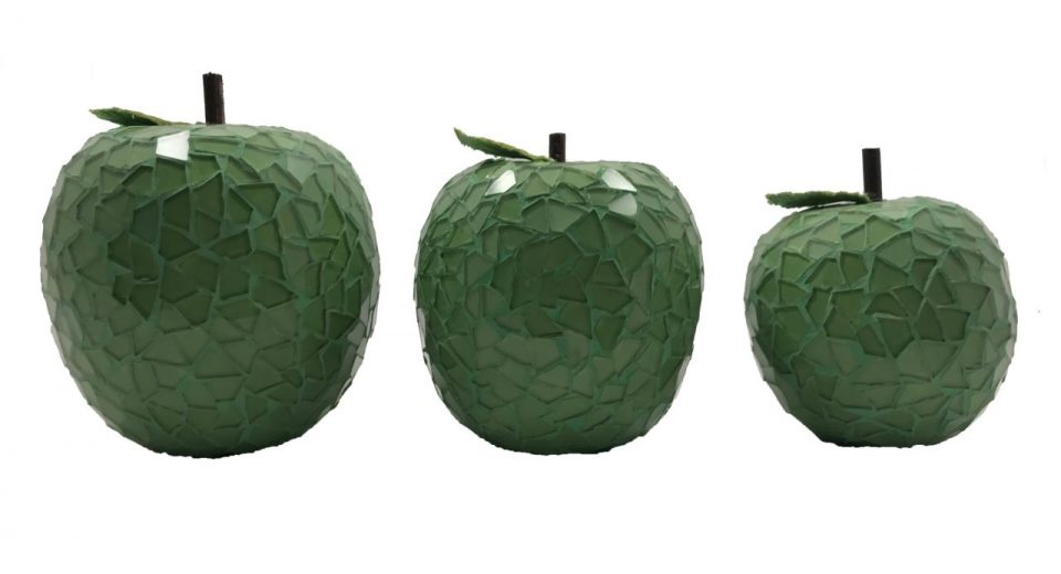 Mosaic Glass Green Apple (8)