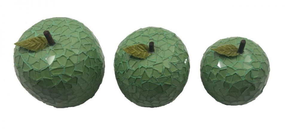 Mosaic Glass Green Apple (9)