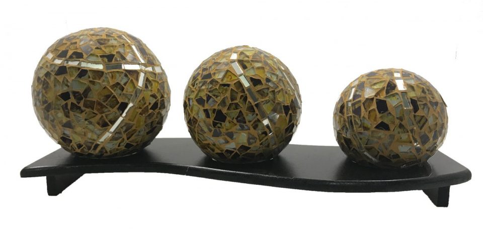 Mosaic Glass Spheres (2)