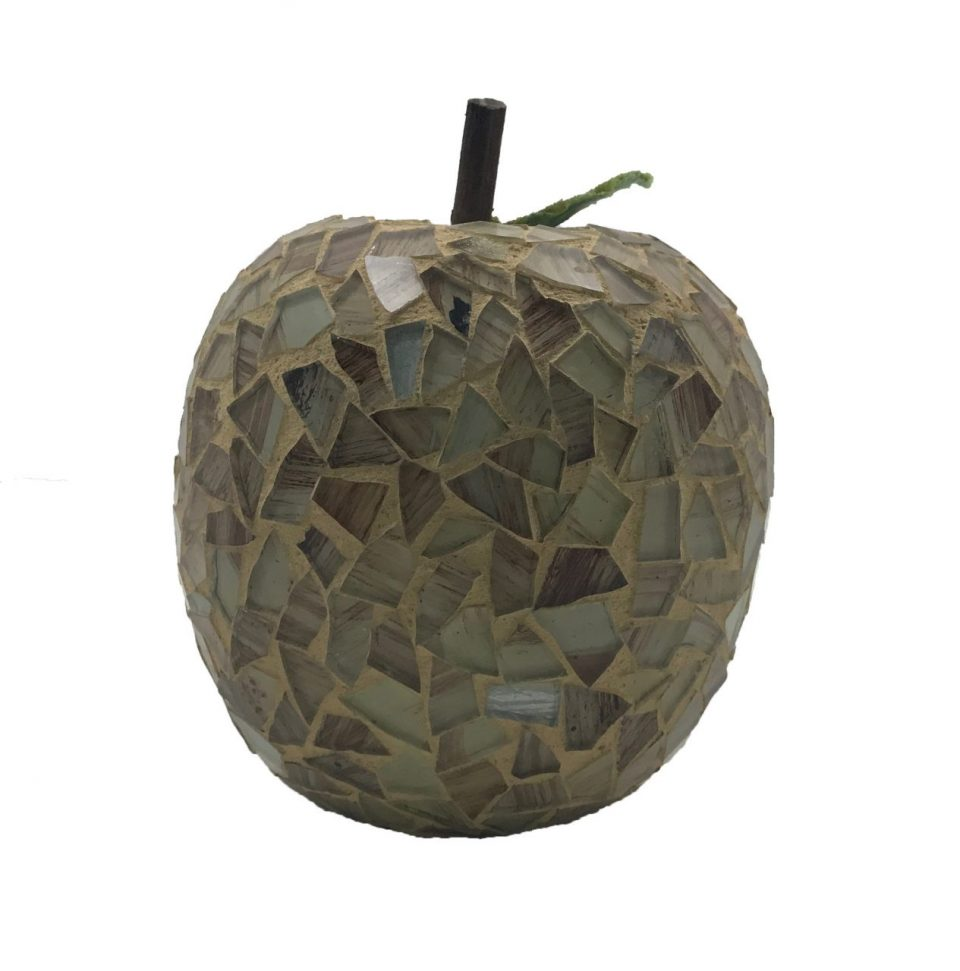 Mosaic Glass Brown Apple (5)