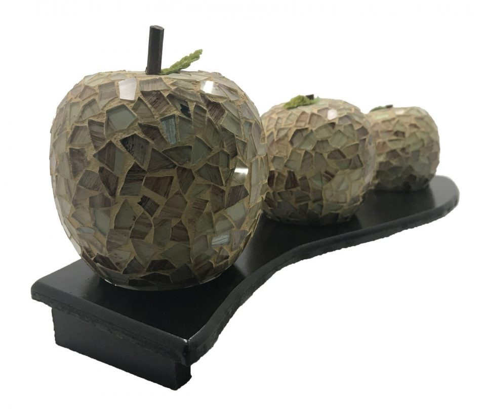 Mosaic Glass Brown Apple (8)