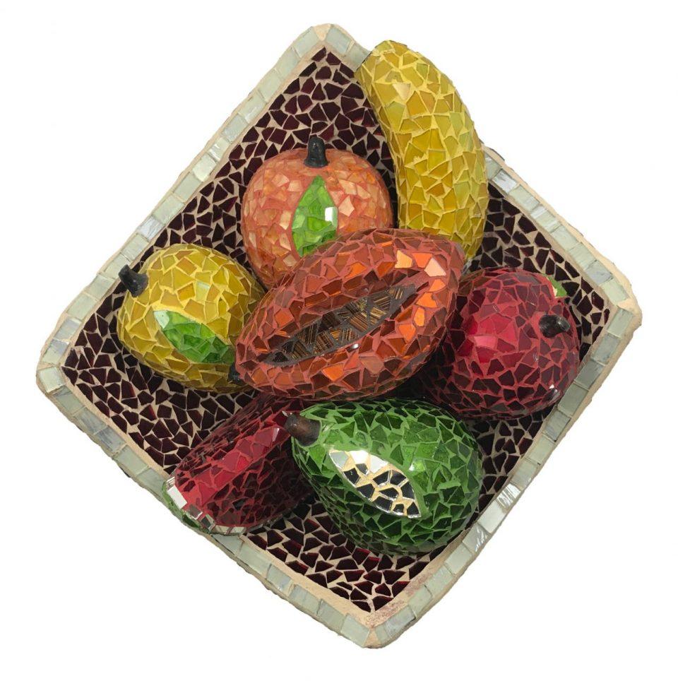 Mosaic Glass Friut Platter (2)