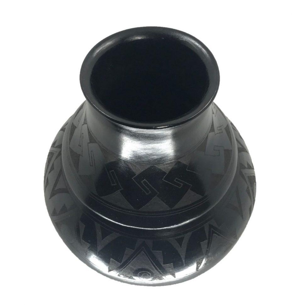 Black Pottery Angled Vase (5)