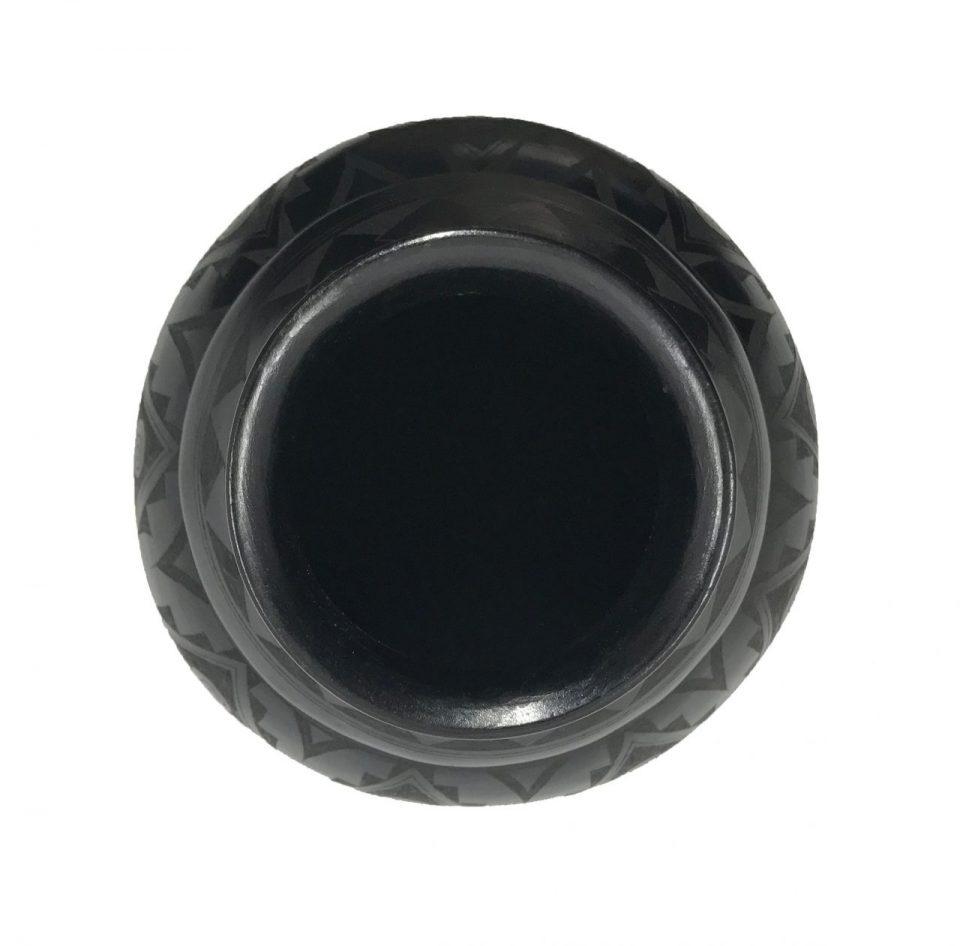 Black Pottery Angled Vase (7)