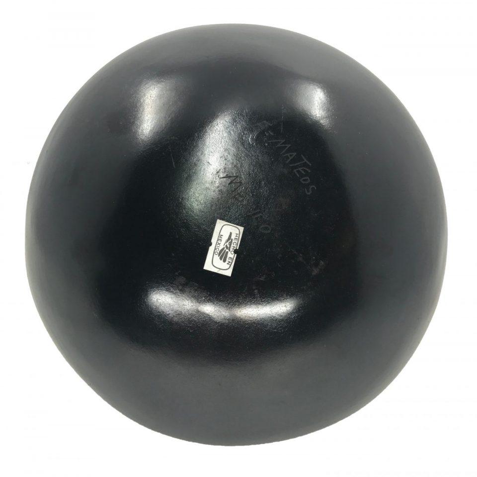 Black Pottery Flat Rounded Vase (6)