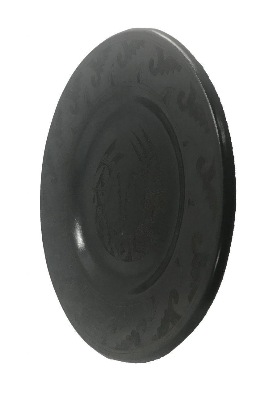 Black Pottery Plate (3)
