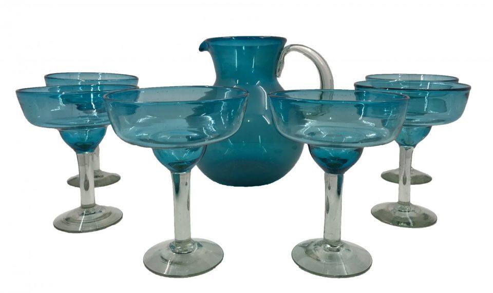 Blown Glass Margarita Pitcher II (1)