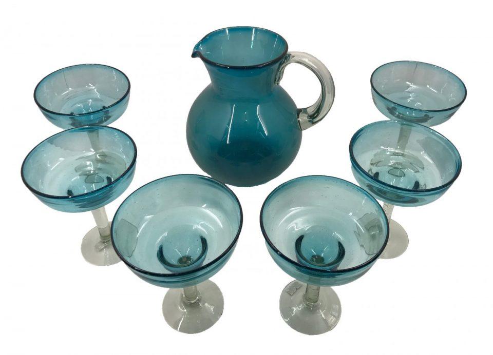 Blown Glass Margarita Pitcher II (2)