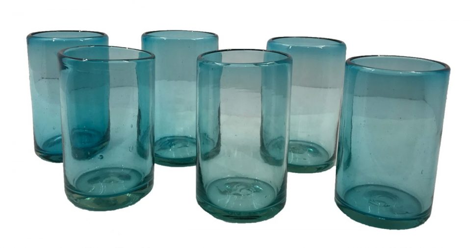 Blown Glass Tumblers & Pitcher I (4)