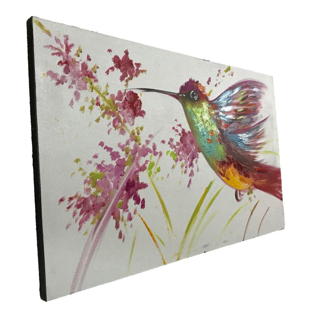 Hummingbird Oil Painting (1)