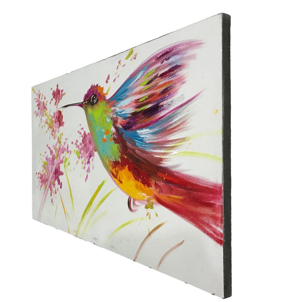 Hummingbird Oil Painting (2)