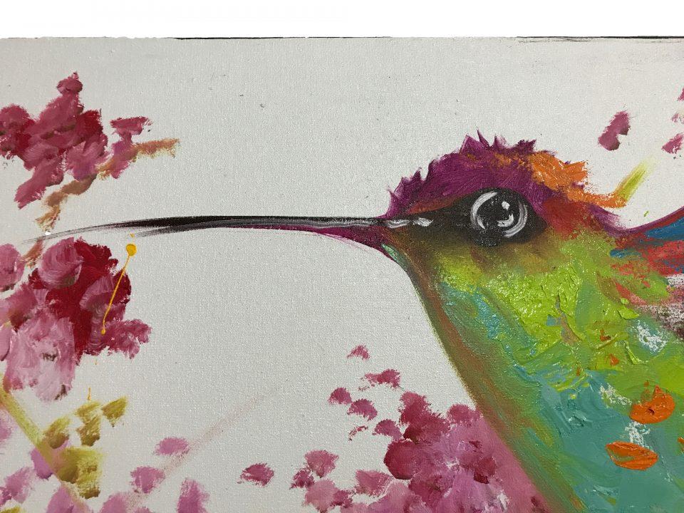 Hummingbird Oil Painting (3)