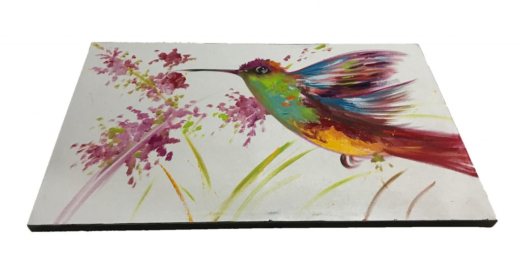 Hummingbird Oil Painting (4)