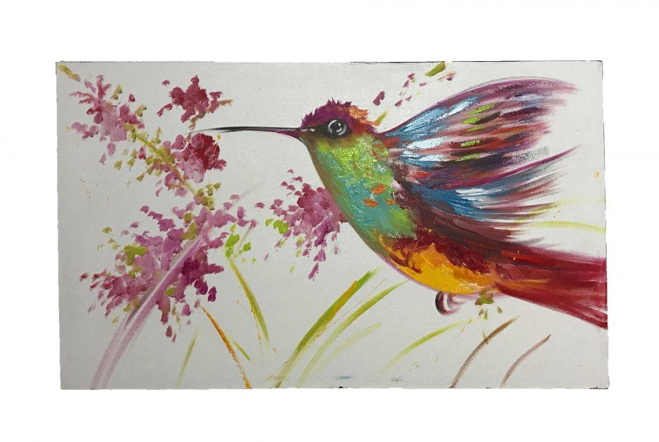Hummingbird Oil Painting (6)
