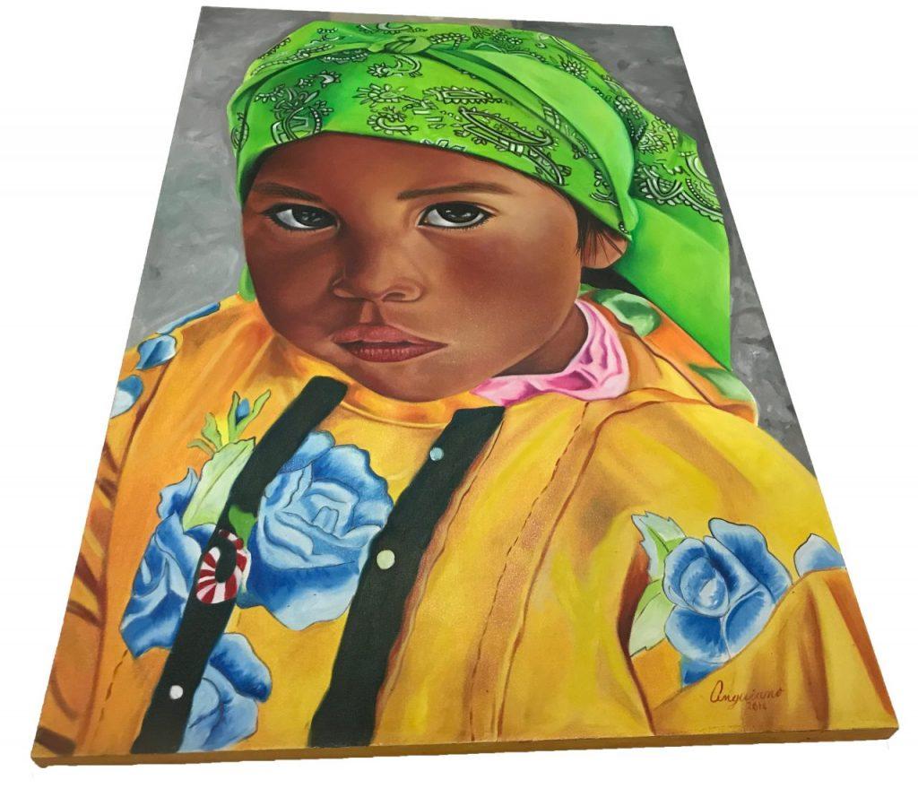 Tarahumara Girl Oil Painting (1)