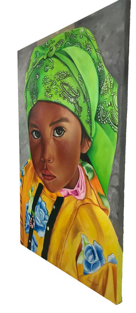 Tarahumara Girl Oil Painting (2)