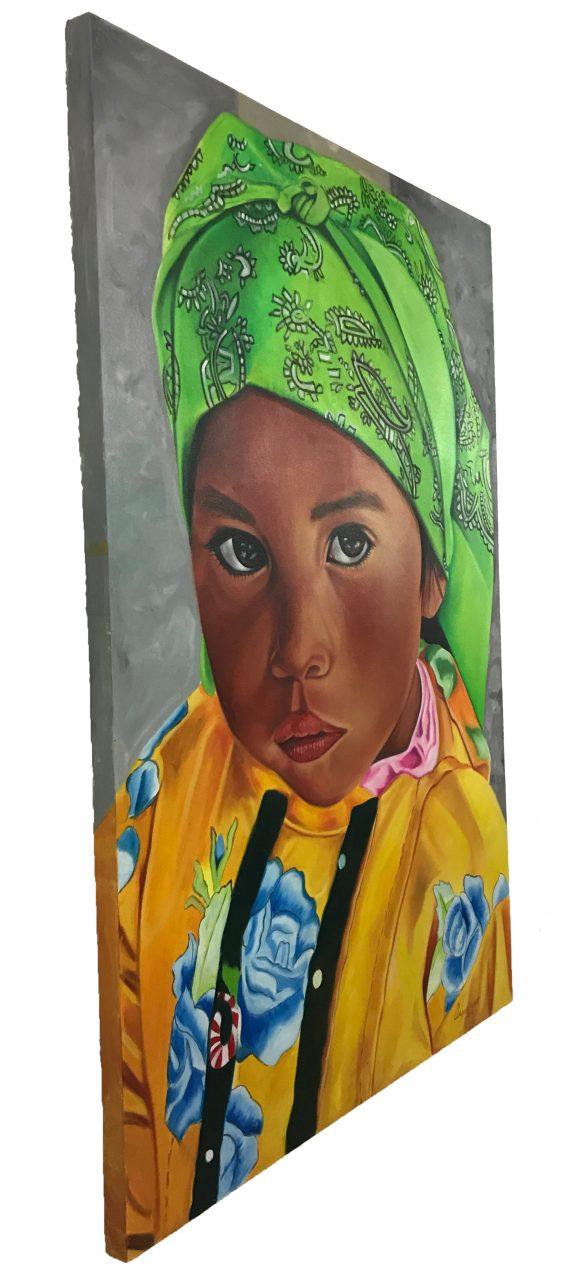 Tarahumara Girl Oil Painting (3)
