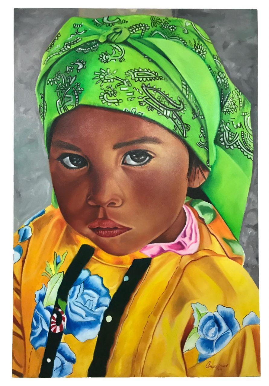 Tarahumara Girl Oil Painting (4)