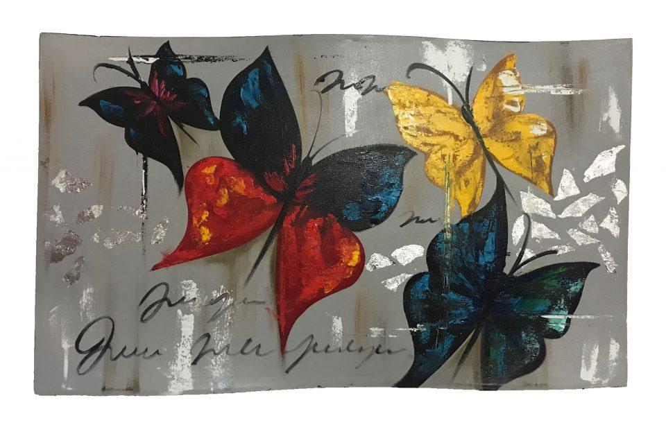 Butterflies Oil Painting (1)