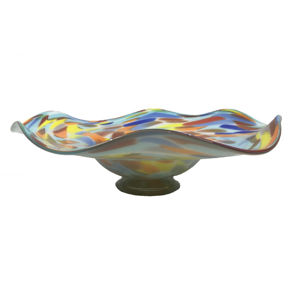 Blown Glass Art Wall Bowl Platter (1)