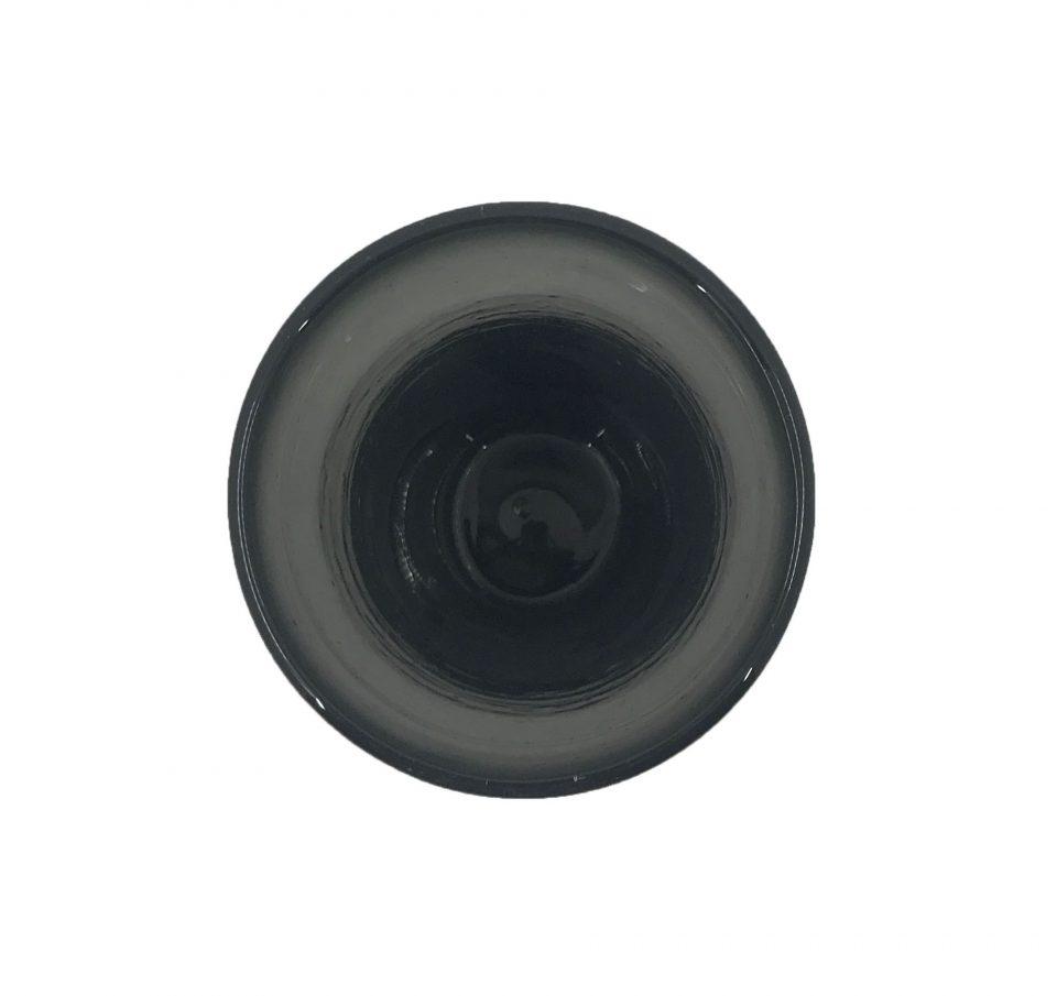Dark Grey Blown Glass Water Glasses (6)