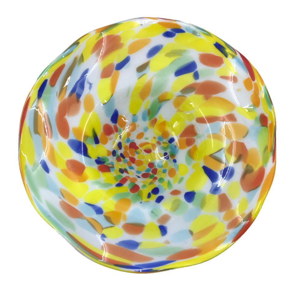 Hand Blown Glass Art Wall Bowl Platter
