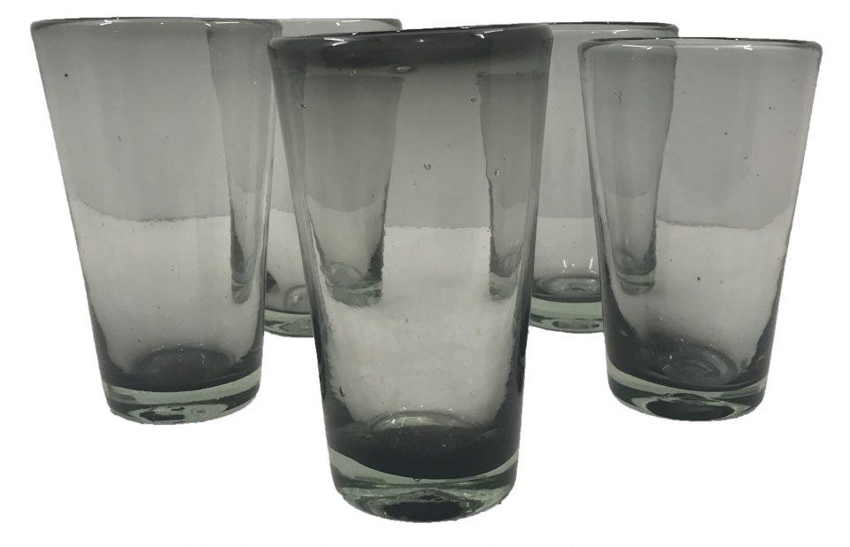 Smoke Grey Blown Glass Water Glasses (1)