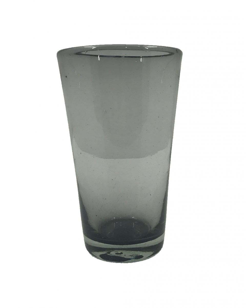 Smoke Grey Blown Glass Water Glasses (5)