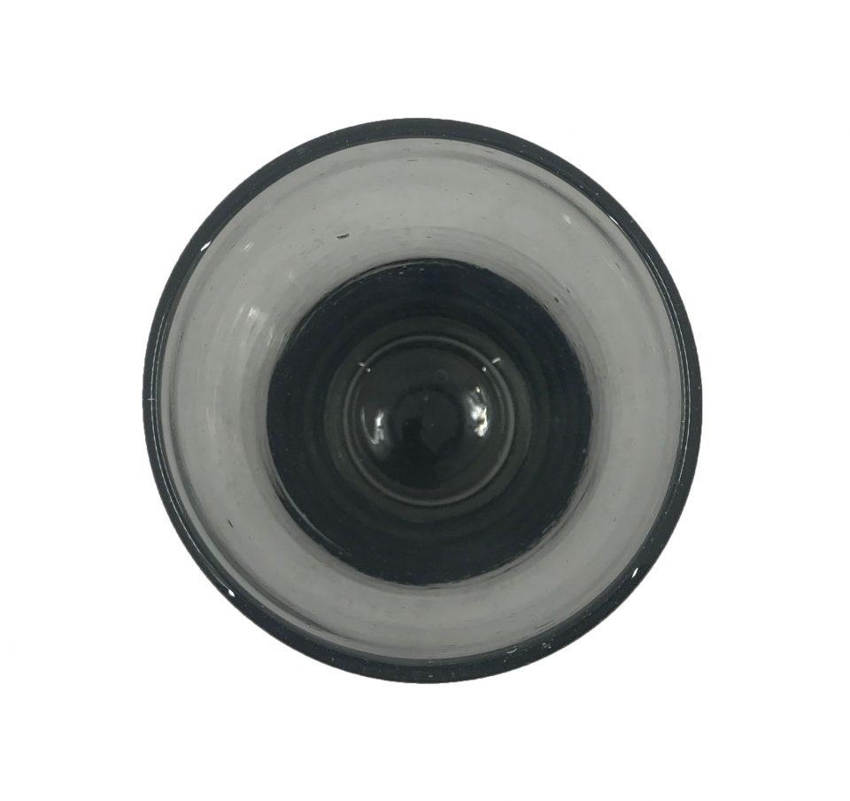 Smoke Grey Blown Glass Water Glasses (6)