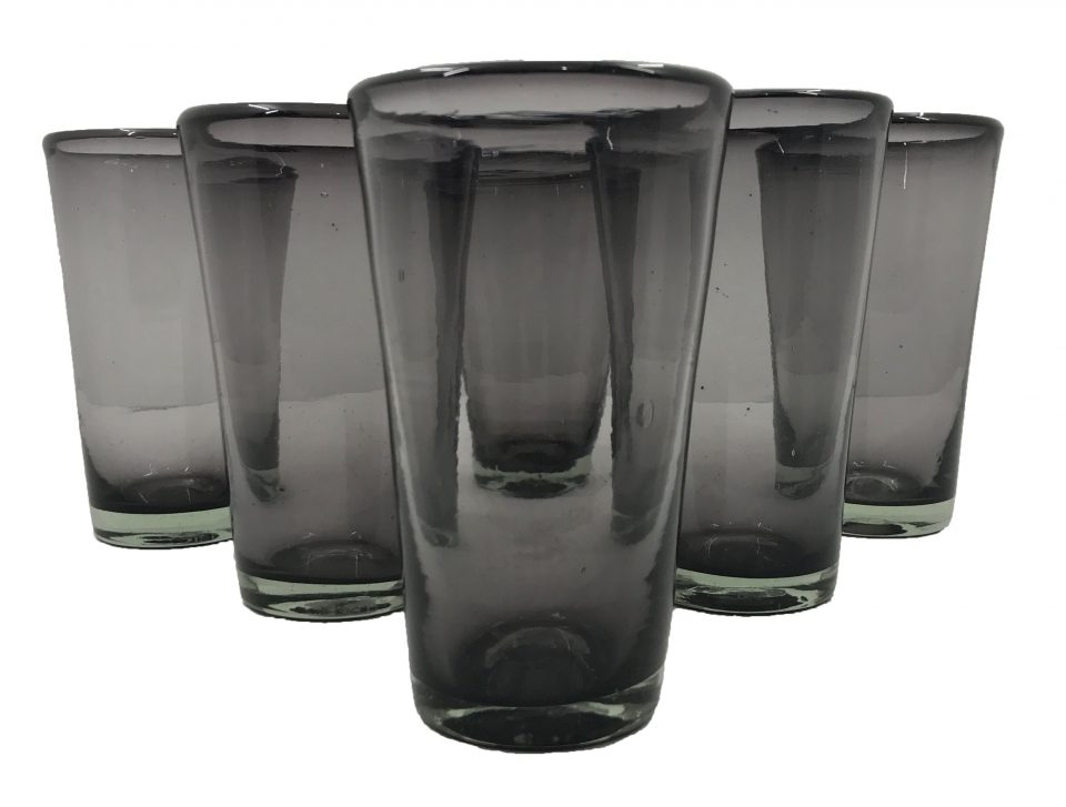 Smoked Grey Blown Glass Tumblers Set (1)