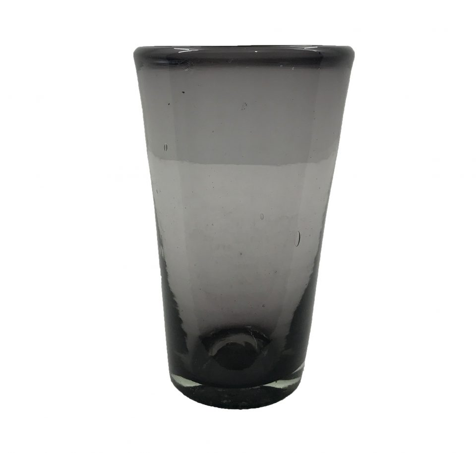 Smoked Grey Blown Glass Tumblers Set (5)