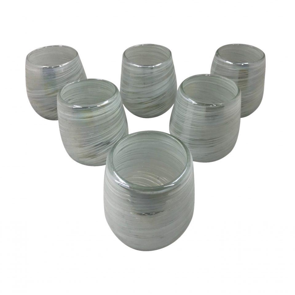 Vasos Aperlados (Vidrio Soplado) (5)