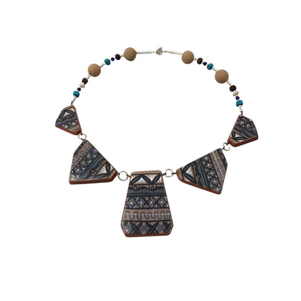 Collar Maya Barro Bruñido 1